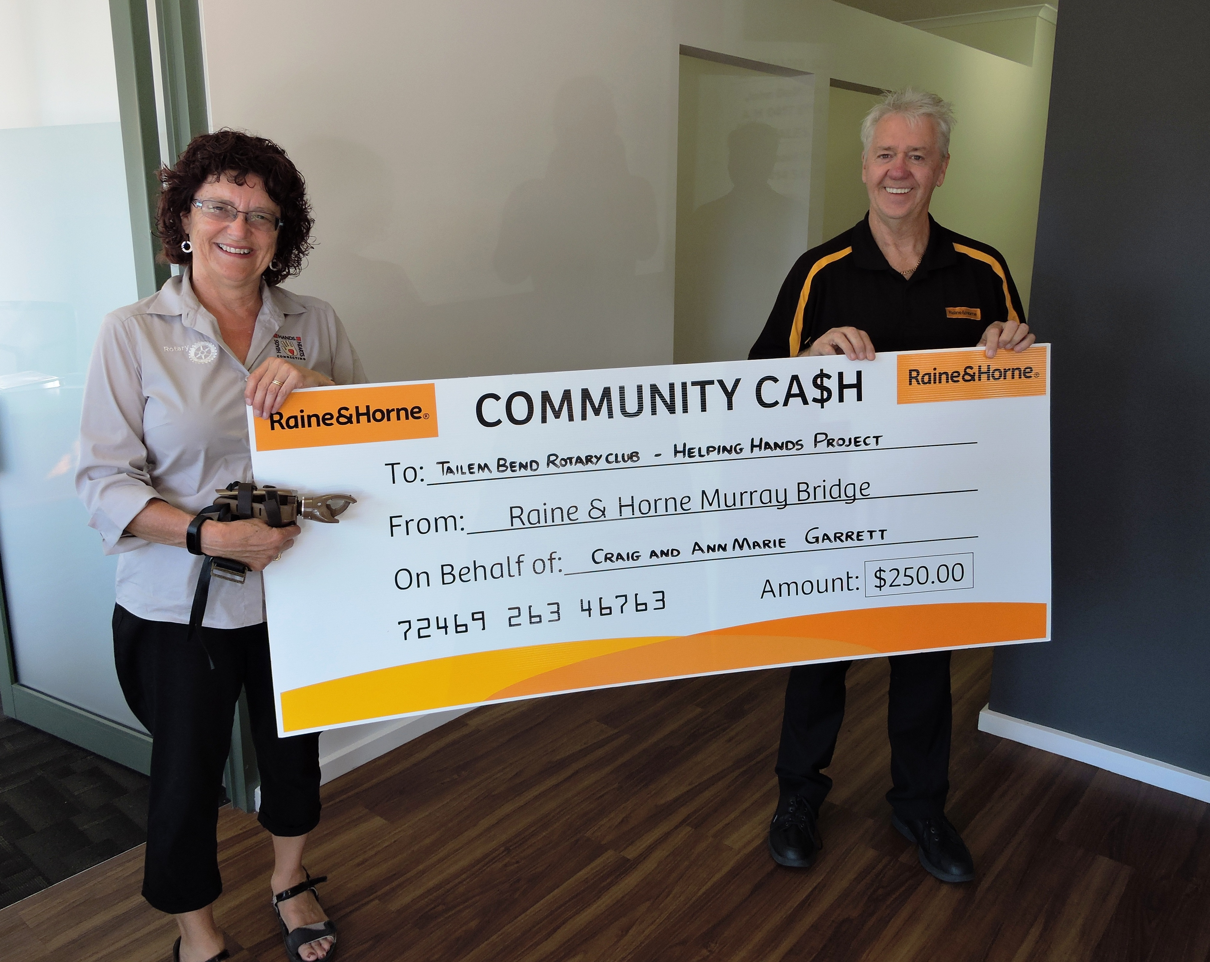 geoff muir donation murray bridge raine and horne